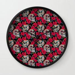 Sugar & Roses Wall Clock