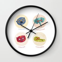 bébé à lunettes 1 Wall Clock