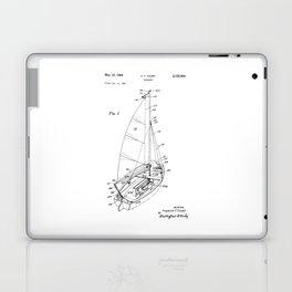 patent art Court Sailboat 1964 Laptop & iPad Skin