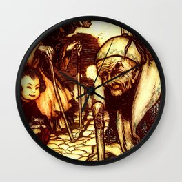 Oriental illustration age and youth Wall Clock