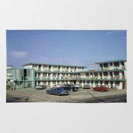 Ebb Tide Motel in the 1950's. The motel was located Wildwood, New Jersey Rug