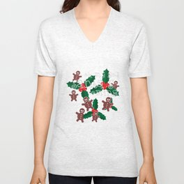 oh my god..santa's is coming Unisex V-Neck