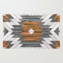 Urban Tribal Pattern 8 - Aztec - Wood Rug