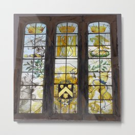 Holy Trinity Old Church, Stained Glass Window, Wentworth, Rotherham Metal Print