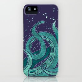 Giant Tentacle Blue Redux iPhone Case