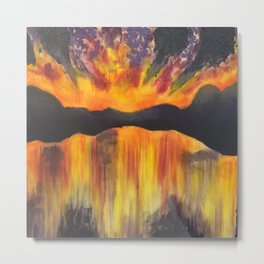 sunset scape  Metal Print