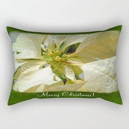 Pale Yellow Poinsettia 1 Merry Christmas P1F1 Rectangular Pillow