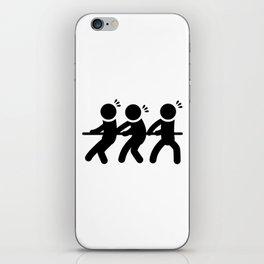 Tug of War Stickfigures iPhone Skin