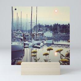 Sunset at the Comox Marina Mini Art Print