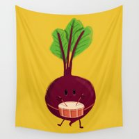 drum Wall Tapestries featuring Beet's drum beat by Picomodi