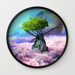 spectator of worlds Wall Clock
