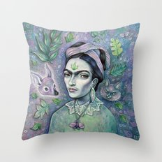 Magical Girl Frida Throw Pillow