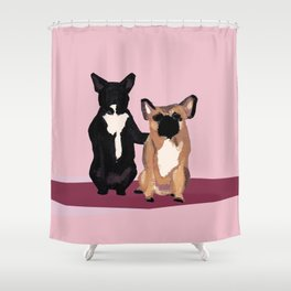 BFF dogs Shower Curtain
