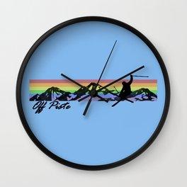 Off Piste Ski Wall Clock