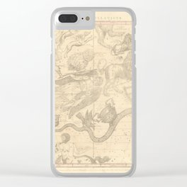 Burritt's Constellations (April, May, June) (1856) Clear iPhone Case
