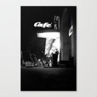 cafe Canvas Prints featuring Cafe  by Julia Aufschnaiter