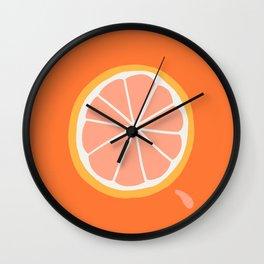 Grapefruit Slice Wall Clock