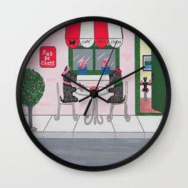 Weekend in Paris - Scotties - Scottish Terriers Wall Clock
