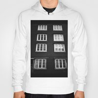 norway Hoodies featuring Facade in Trondheim, Norway by Archilse