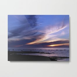 Feathered Clouds at Sunset Metal Print