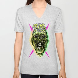 Primal Screaming Skull Unisex V-Neck