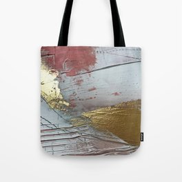 Darling [2]: a minimal, abstract mixed-media piece in pink, white, and gold by Alyssa Hamilton Art Tote Bag