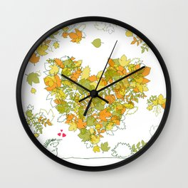 Heart of leaves 4U Wall Clock