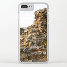 Dinas Bran Castle Ruins Clear iPhone Case