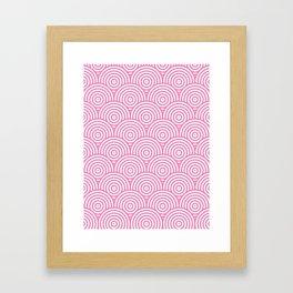 Scales - Pink & White #234 Framed Art Print