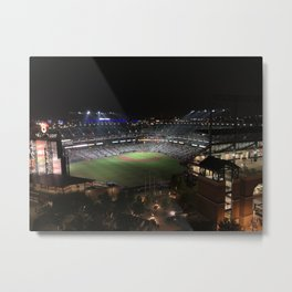 Camden Yards at Night Metal Print