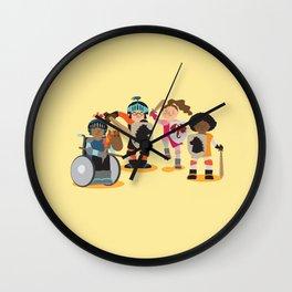 Knight kids - yellow background Wall Clock