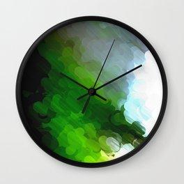 Green Dot Paint Wall Clock