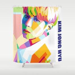 Kim Jong Hyun In Pop Art Shower Curtain