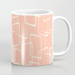 Mid Century Blush Geometric Pattern Coffee Mug