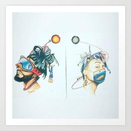 Mirrorland Art Print