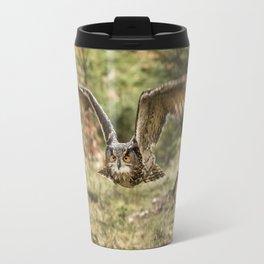 Eagle Owl In Flight Travel Mug