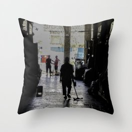 Street Cleaner  Throw Pillow