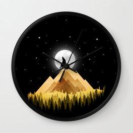 Wolf Night Wall Clock
