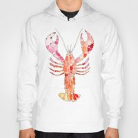 lobster Hoodies featuring Lobster by fossilized