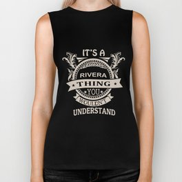 it is rivera thing you would not understand black and white mens or womens racing Biker Tank