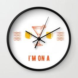 Funny Pontoon Boat design Wall Clock