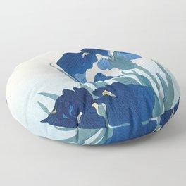 Ohara Koson - Iris flowers Floor Pillow