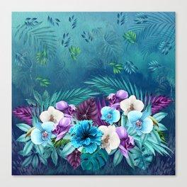 Blue Hawaiian Rain Forest Canvas Print