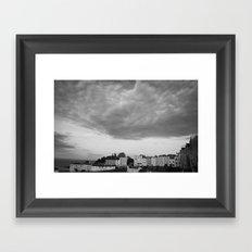 and the sky screamed. Framed Art Print