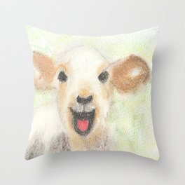 Easter Lamb Throw Pillow