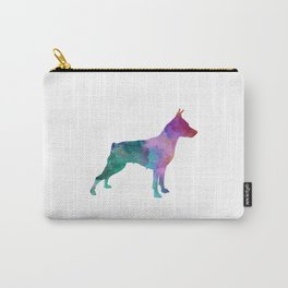 Miniature Pinscher in watercolor Carry-All Pouch