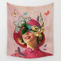 eugenia loli Wall Tapestries featuring Chrysalis by Eugenia Loli
