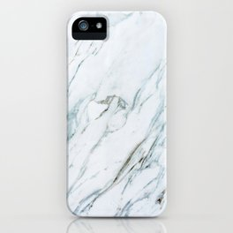 Classic White Marble iPhone Case