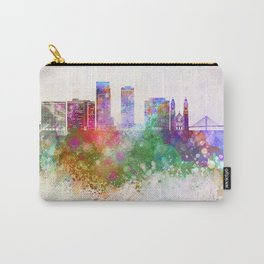 Omaha V2 skyline in watercolor background Carry-All Pouch