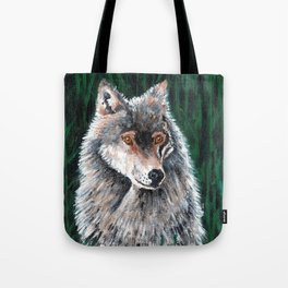 Grey Canadian Wolf Tote Bag